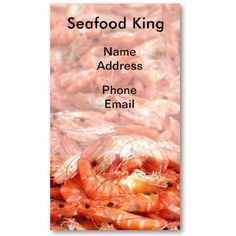 Fresh Shrimps or Prawn on Display Business Card