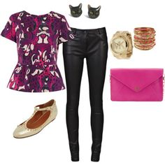 Peplum and Leather