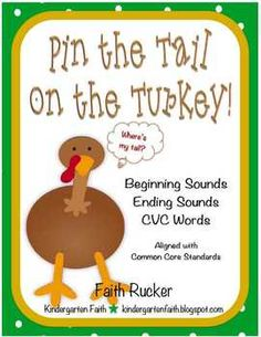Thanksgiving Pin the Tail on the Turkey $