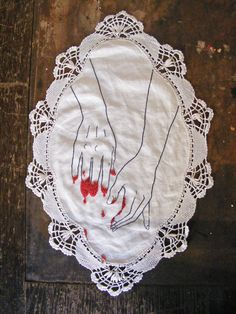 """FingerPricks"" Original needlework by Siobhán Barbour"