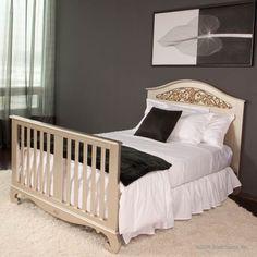 Bratt Decor Chelsea Lifetime Crib in Antique Silver