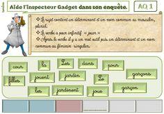 CE1/2 grammaire ludique : les enquêtes de l'inspecteur Gadget.
