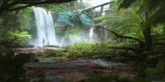 Art of Blake Rottinger Post-apocalyptic, post apocalypse, nature, forest,