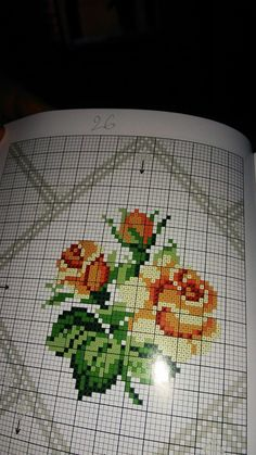 Cross Stitch Rose, Le Point, Charts, Stitching, Needlework, Crocheting Patterns, Cross Stitch Embroidery, Herb, Towels