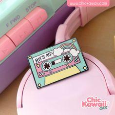 Chic Kawaii enamel pin music vintage