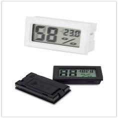 Mini Digital LCD Indoor Nyaman Suhu Sensor Kelembaban Meter Thermometer Hygrometer Gauge Gratis Pengiriman