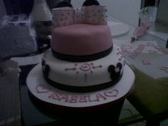 Minnie mouse cake. I'm so sorry for the quality of this photo!!!! But this cake was soooo delicious and cute.
