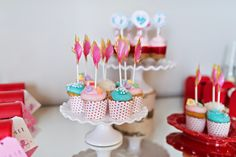 Designs by Kimberly Francom and Associates: Tissue Feather Cupcake Toppers | Valentine Cupcake Toppers