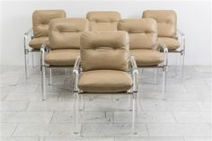 View Pipe Line II Chairs by Jeff Messerschmidt on artnet. Browse more artworks Jeff Messerschmidt from Todd Merrill Century and Studio Contemporary. Lucite Chairs, Lounge Chair Design, Leather Lounge, Modern Armchair, Chair Fabric, Dining Room Chairs, Upholstery, Furniture, Tapestries