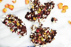Vibrant & Pure Shares Three Popcorn Recipes with Gourmet Toppings: DARK CHOCOLATE ROSEWATER PISTACHIO POPCORN BARK   coveteur.com