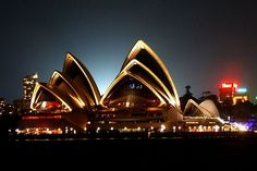 Sydney Opera House - one of these New Year's Eve's I'll be there for the fabulous fireworks! One Day I Will, Sydney, Travel Tips, Australia, Opera House, Night, City, Building, Places