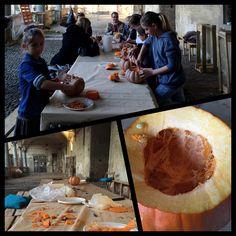 Laboratorio con bambini e ragazzi. intaglio delle zucche di Halloween Pumpkins carving