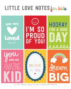 Free Little Love Notes for Kids Share Handmade Kindness Challenge - One Happy Mama Lunchbox Notes For Kids, Kids Notes, Love Notes, Lunch Notes, Kindness Notes, Teaching Kindness, Kindness Ideas, Notes For Friends, Kindness Challenge