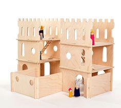 Wood Castle Modular Towers Castle Toy Modular di manzanitakids, $150.00
