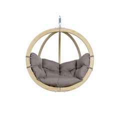 Freeport Park The ball frame Swing Chair is the ideal place to relax. Multiple layers of weatherproofed spruce wood guarantee maximum stability and safety. The Swing Chair is equipped with a big soft cushion which makes it a very cosy place. Hanging Swing Chair, Hammock Chair, Hammock Stand, Swinging Chair, Swing Chairs, Hanging Chairs, Lounge Chairs, Porch Swing With Stand, Pergola Swing