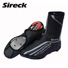 Sireck 프로 사이클링 신발 커버 방수 방풍 자전거 도로 자전거 신발 커버 겨울 열 양털 따뜻한 자전거 덧신