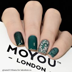 Look at the summer nail art design photos, choose the best idea for yourself and embody it boldly! Best option summer nail designs 2018 and 2018 nail art designs. Love Nails, Pretty Nails, My Nails, Hair And Nails, Square Acrylic Nails, Square Nails, Nagel Stamping, Manicure E Pedicure, Green Nails