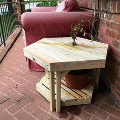 #table #garden #potted #plant #porch #hexagon #adjustable #pressuretreated #wood #justforfun #vine #confederatejasmine
