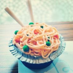 Bowl of noodles cupcakes