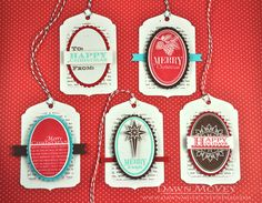 Christmas Gift Tags by Dawn McVey for Papertrey Ink (October 2013)