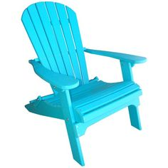 I pinned this Phat Tommy Folding Adirondack Chair in Teal from the Perfect Patio event at Joss & Main!