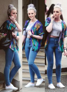 Sweater: perrie edwards little mix jeans shirt top coat pants shoes kimono blouse high waisted jeans