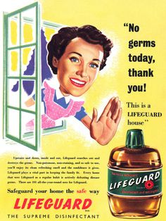 Lifeguard advertisement.  From Illustrated magazine, week ending 26th May, 1951.