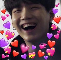 Seokjin, Namjoon, Yoongi, Love In Korean, Bts Bangtan Boy, Jimin, Wholesome Pictures, Heart Meme, Taehyung