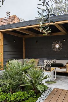 With a roof you can sit outside even in bad weather With a roof you can … - Innen Garten - Eng Backyard Gazebo, Patio Canopy, Backyard Patio Designs, Pergola Patio, Backyard Landscaping, Wedding Pergola, Rustic Pergola, Pergola Shade, Pergola Designs
