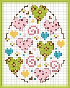 Free cross stitch easter eggs