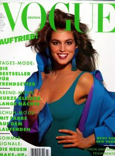Vogue Germany March 1988 - Cindy Crawford