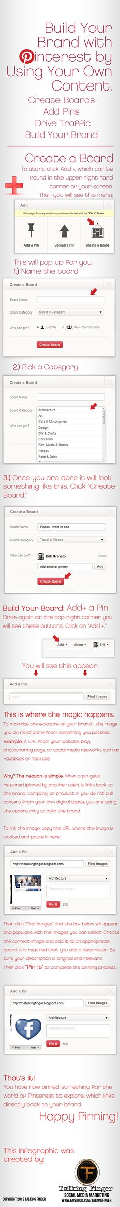 Build your #Brand with #Pinterest #ccentral #fleytong