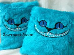 Alice in Wonderland Sinister Cheshire Cat Fur Cushion