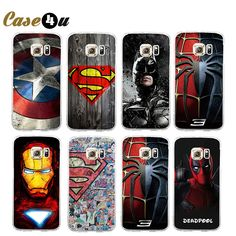 Find More Phone Bags & Cases Information about Marvel Avengers Superhero Phone Case Coque For Samsung Galaxy S6 S7 S7 Edge Hard Back Phone Cover Deadpool Ironman Batman Sleeve,High Quality Phone Bags & Cases from Case4u Group on Aliexpress.com