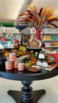 Fall Display-Westbend Autumn Displays, Table Decorations, Store, Fall, Furniture, Home Decor, Autumn, Decoration Home, Fall Season