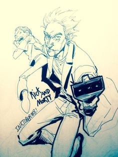 "macbethoff: "" Day 8 Inktober Rick and Morty "" Rick And Morty Comic, Rick I Morty, Cartoon Tv Shows, A Cartoon, Cartoon Characters As Humans, Danny Phantom, Anime Comics, Cute Drawings, Fandoms"