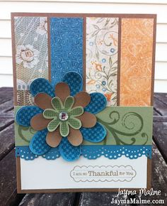 Gorgeous. Made with CTMH florentine paper pack