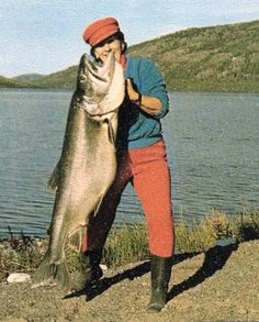 World record Lake Trout in 1970 at 65 lbs from Great Bear Lake