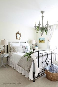 Savvy Southern Style: French Country Christmas Guest Bedroom