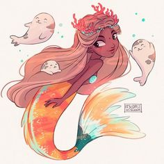 These cuties also like playing with mermaid's hair~  #mermay  OOOOOOOO my god you guys so many things from tictail got sold out so quick I'm speechless thank you so much to everyone for the support and the kind and sweet comments! Hopefully I'll be restocking the sold out items soon! Thank you thank you SO MUCH to everyone