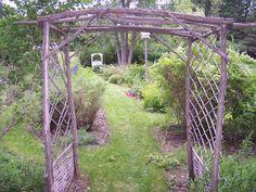 garden path and arbor