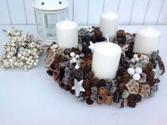 Csináld magad: adventi koszorú Christmas Advent Wreath, Advent Wreaths, Shabby Chic, Trendy, Holiday Decor, Diy, Autumn, Home Decor, Noel