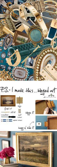 P.S.- I made this...Hinged Art with @OneKingsLane #PSIMADETHIS #DIY