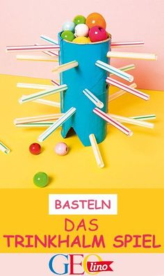 Crafts: The straw game - Spiele - fun craft Diy Crafts To Do, Paper Crafts For Kids, Upcycled Crafts, Diy For Kids, Easy Crafts, Easy Diy, Diy Niños Manualidades, Stampin Up, Diy Games