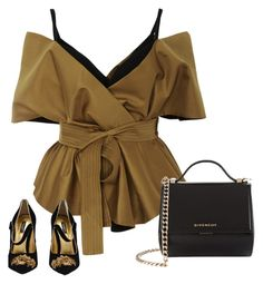 """""""Elegance in gold"""" by karmen-mv on Polyvore featuring Acler, Givenchy y Dolce&Gabbana"""