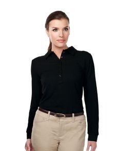 Womens Knit Long Sleeve Golf Shirt (100% Polyester) Tri mountain KL103LS #knit #LongSleeve  #fashion