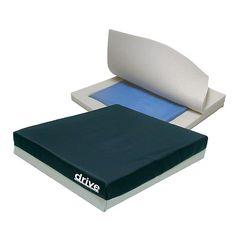 Drive Medical Skin Protection Gel E Wheelchair Seat Cushion 16x16x3