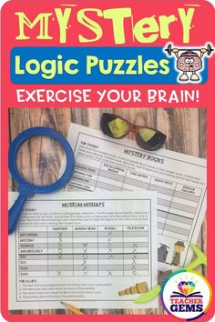 Mystery theme grid logic puzzles are a such a fun & engaging way to challenge your students to improve their higher-order critical thinking skills. Designed for upper elementary >> fourth grade, fifth grade, and sixth grade classrooms. Teaching Math, Teaching Resources, Teaching Skills, Teaching Ideas, Logic Puzzles, Sixth Grade, Third Grade, Critical Thinking Skills, Library Lessons