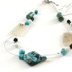 OOAK Brazilian Turquoise and Agate by AndreaFuentesDesigns on Etsy