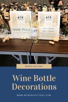 Add a little in your bottles to attract people to your section! Wine Pull, Empty Wine Bottles, Dark Star, Fundraising Ideas, Louis Vuitton Neverfull, Instagram Accounts, Auction, Place Card Holders, Ads